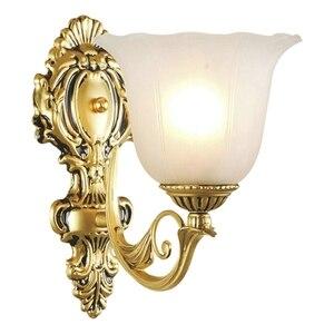 Image 5 - אירופאי בציר מנורת קיר רטרו Led קיר אור סלון בית E27 פמוט מנורות מתכת בר מסדרון תאורה מקורה קישוט