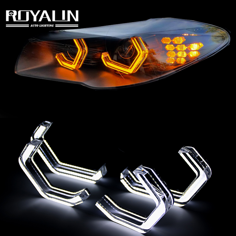 ROYALIN LED Halo M4 Iconic Style Angel Eyes For BMW 2 3 4 5 Series F30 F32 F82 F80 (M3/M4) M5 E90 E92