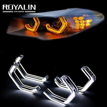цена на ROYALIN LED Halo M4 Iconic Style Angel Eyes For BMW 2 3 4 5 Series F30 F32 F82 F80 (M3/M4) M5 E90 E92