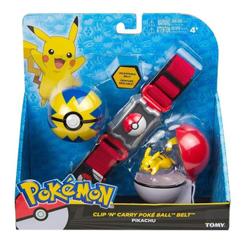 Pokemon TAKARA TOMY Poke Ball Belt Pikachu Anime Figures Squirtle Charmander Monster Bulbasaur Action Toys Set Xmas Gift Figma