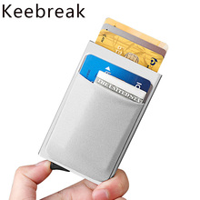 Male Wallet Pop-Up-Card Secret Rfid Metal Small Slim Mini Purse Blocking Aluminum