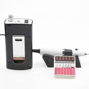 Image 3 - Portable Rechargeable Nail Drill Machine 36W 35000RPM Manicure Machine Electric Nail File Nail Art Tools Set for Nail Drill bits