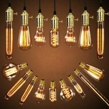 2020 HOT Safe Dimmable E27 4W Edison Retro Vintage Filament ST64 COB LED Bulb Light Lamp Body Color:Golden Cover Light