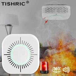 Tishric 433 mhz sem fio inteligente wi fi detector de fumaça alarme incêndio sensor fumaça compatível com sonoff rf ponte