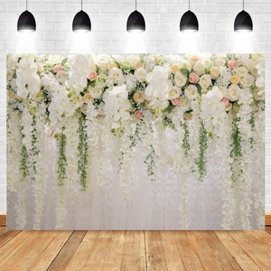 Wedding Photocall Flower Marriage Newborn Baby Birthday Backdrop Custom Photography Background Photo Studio Vinyl Photophone