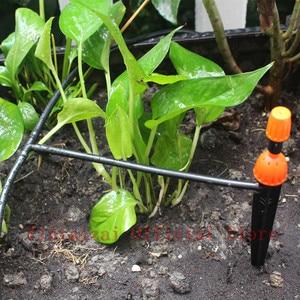 Image 4 - 10/15/25 M Micro Drip Irrigatie Set Met Water Timer Misting Sprinkler Druppelaar Plant Self Watering Tuin water Irrigatie Kits