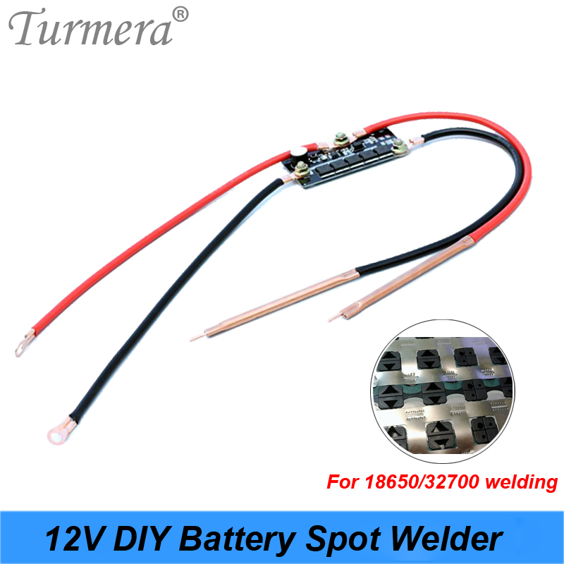 Turmera 12V DIY Spot Welder Controller BMS For 18650 26650 32700 Battery Soldering 0.15mm And Battery Pack Use With Welding Pen