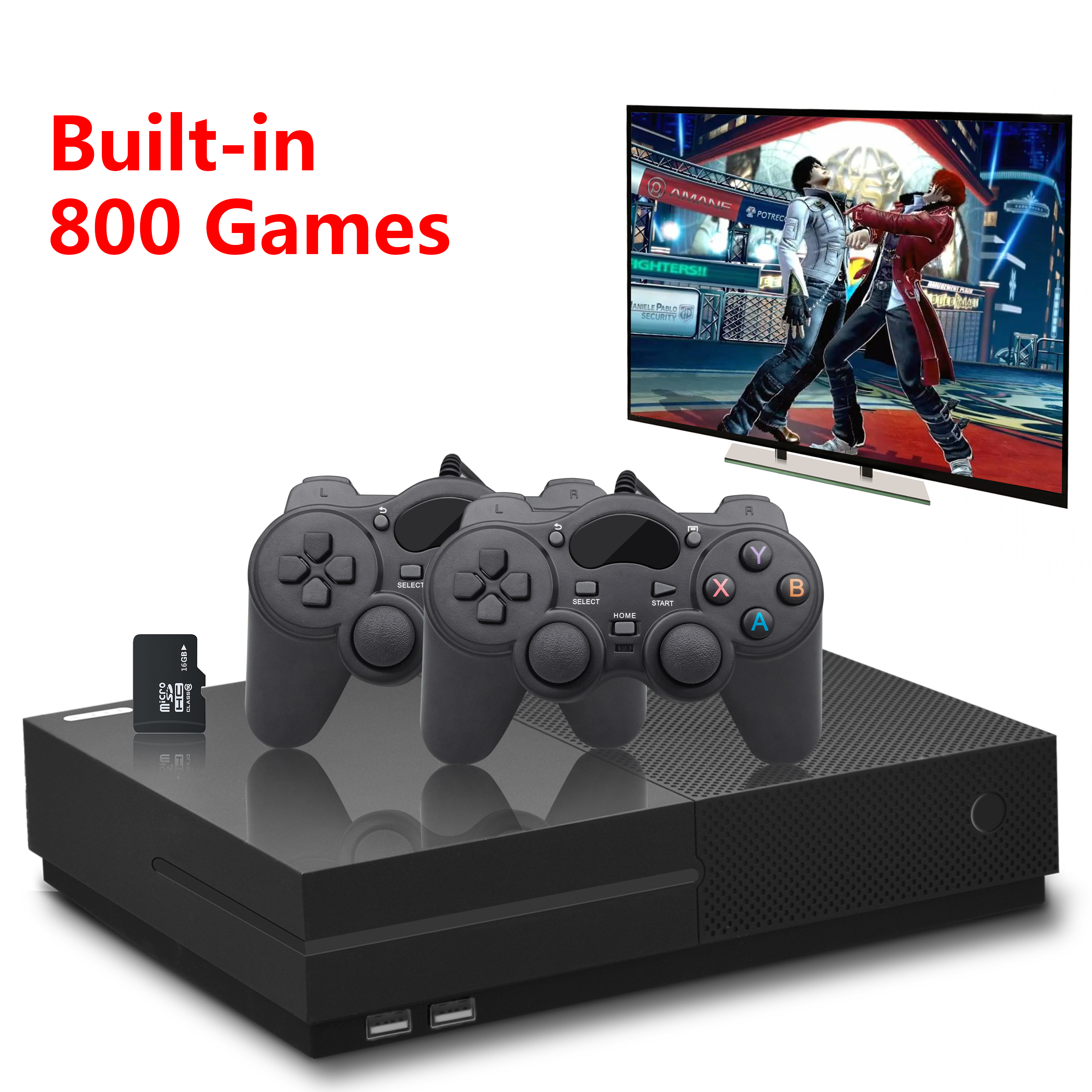 PS1 Video Game Console 64Bit 4K HD HDMI Output Retro 800 Classic Family Retro Games TV 32G XPRO joystick for gift xbox ones image