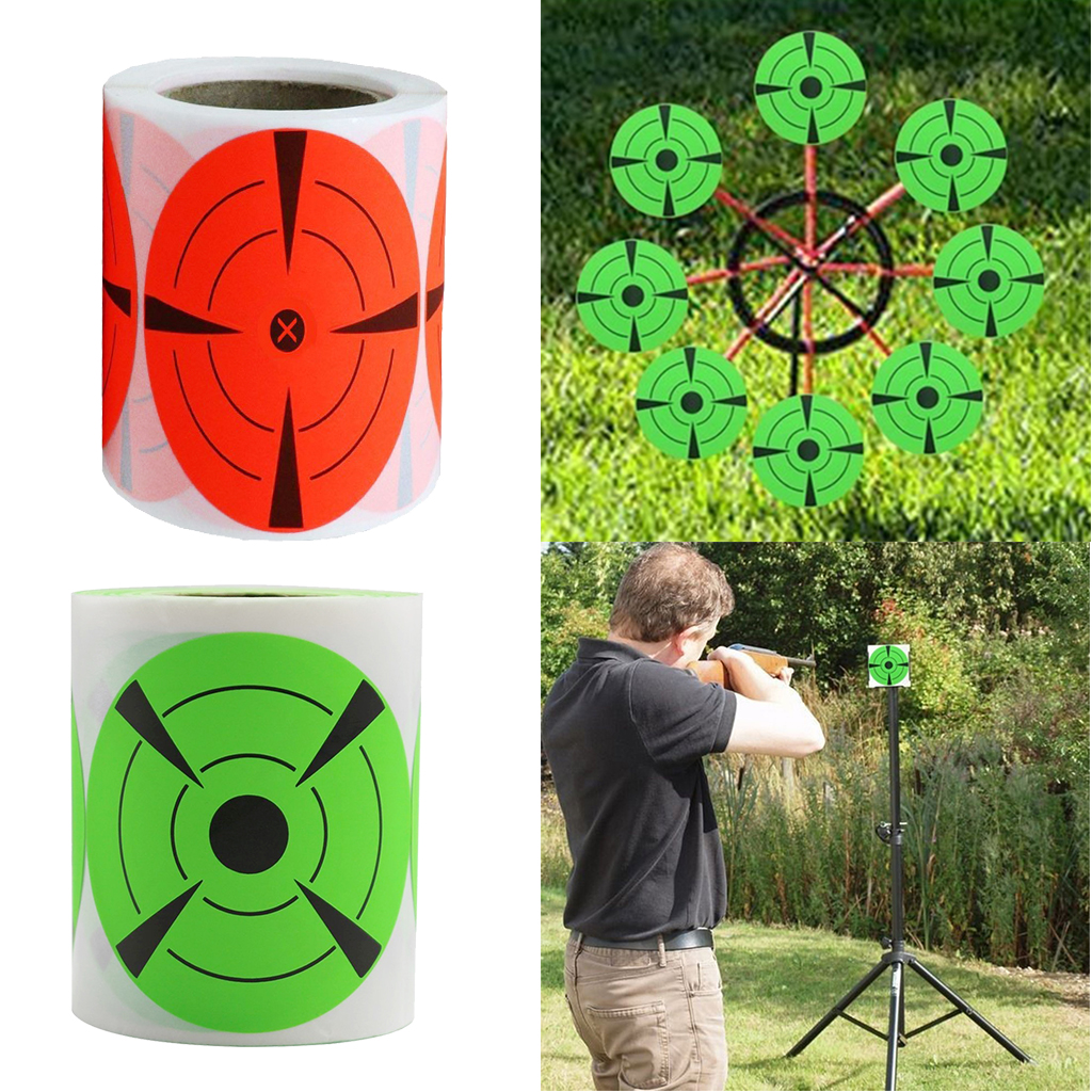 125 Pieces Shooting Target Stickers 3inch Round Target Dots Stickers Roll For Shooting Strong Adhesive Shooting Target Pasters