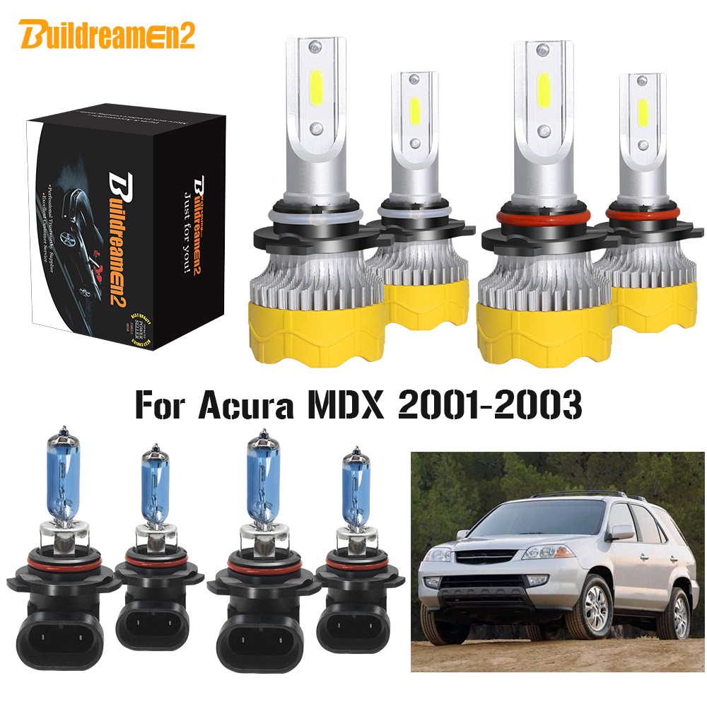 Buildreamen2 4 X Car 9005 9006 LED Halogen Headlamp Bulb Headlight High Low Beam 12V For <font><b>Acura</b></font> <font><b>MDX</b></font> 2001 <font><b>2002</b></font> 2003 image