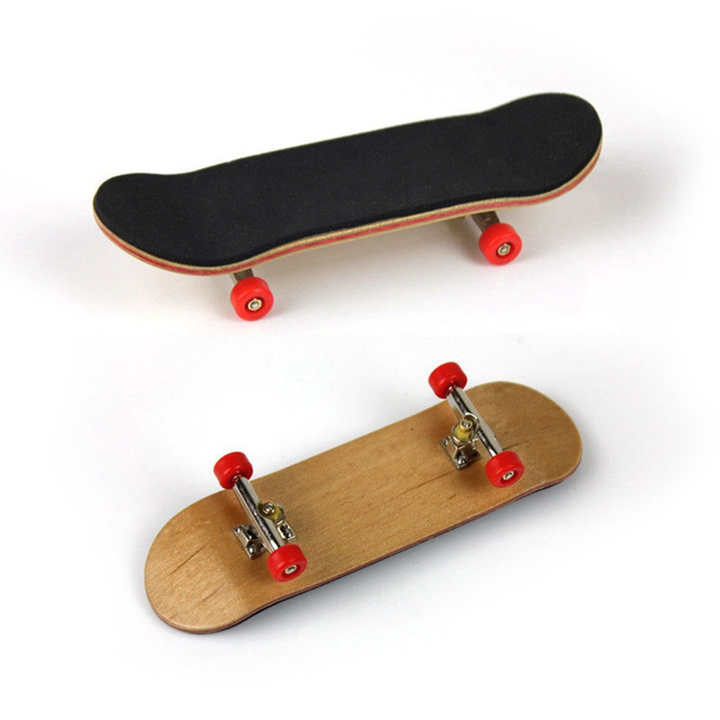 1 Set Wooden Fingerboard Skateboard With Box Children Deck Sport Game Gift Maple Novelty Finger Toy For Adults Kids