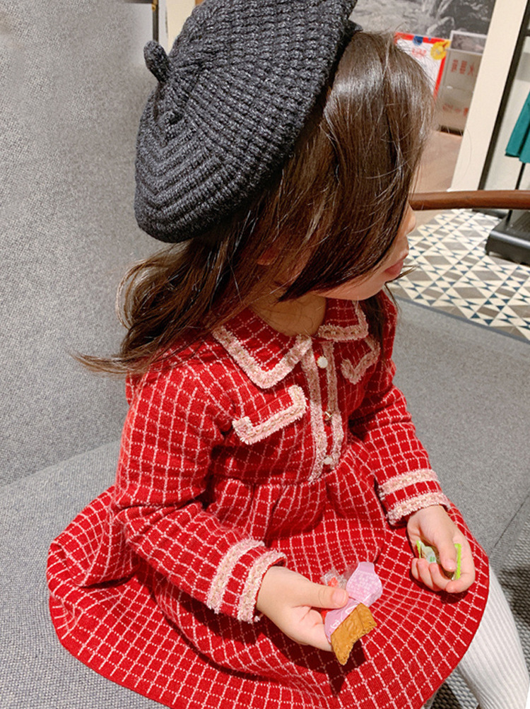 Fashion Girl Dress Plaid Princess Sleeveless Spring Outfit Causal Cute Dress for 1-5 Years Birthday Party Uniform Girl clothes