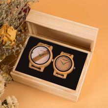 Simple Design Couple Watches Wooden Timepiece Handmade Cork