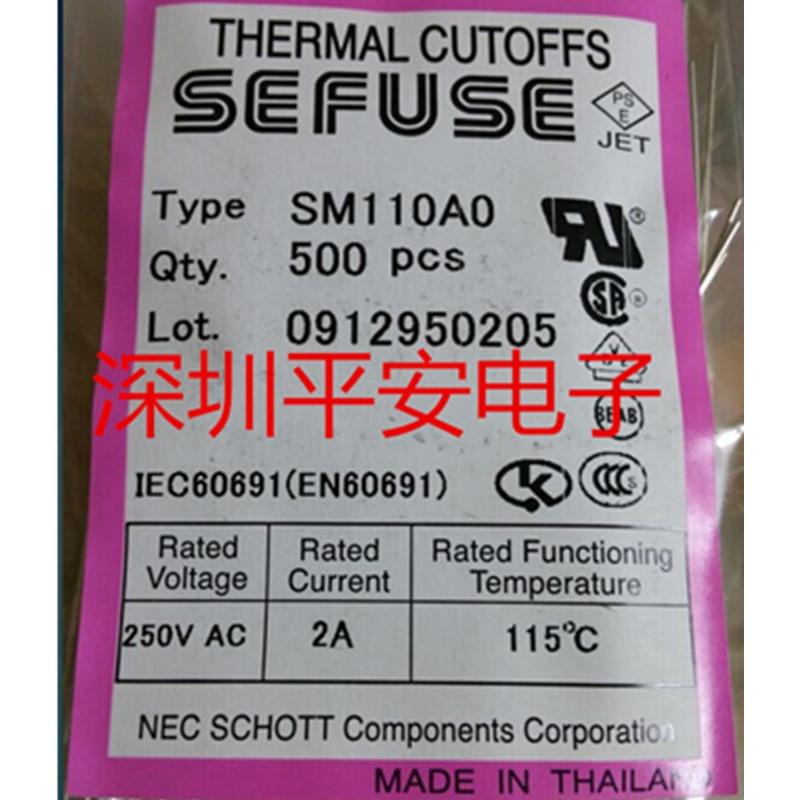 5 Pcs NEC Microtemp Thermal Fuse 115℃ TF Cutoff 2A 250V SM110A0
