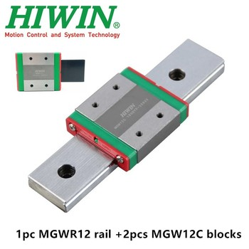 1pc Original Hiwin linear guide MGW12 150 200 250 300 350 400 450 500 550 600 mm MGWR12 rail + 2pcs MGW12C block carriages CNC