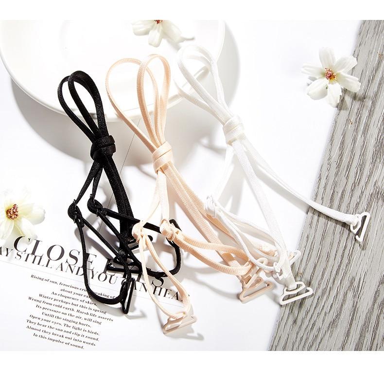 1 Pair Adjustable Shoulder Straps Anti-skid Invisible Shoulder Straps Halter Strap Underwear Bras Elastic Intimates Accessories