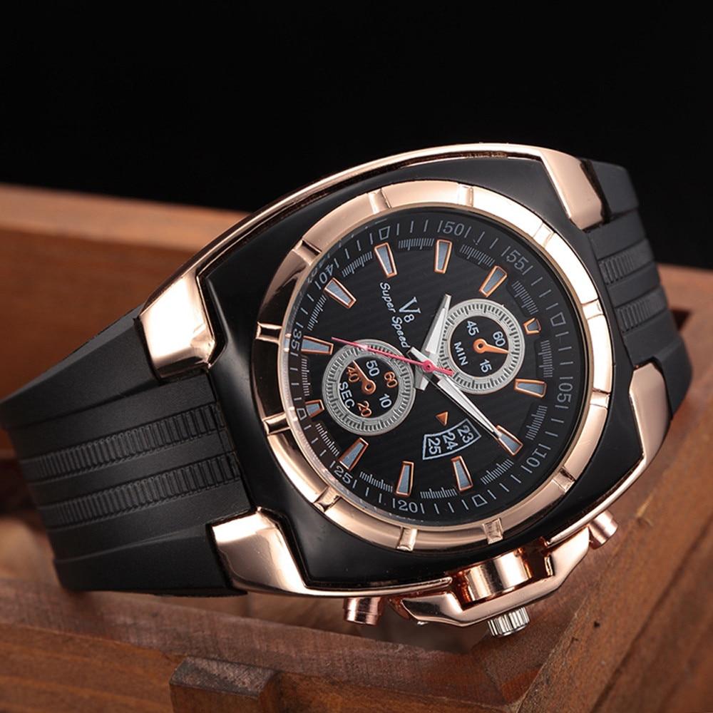 New Fashion Distinguished Men Business Watch Elegant Luxury Men's Sport Wrist Watch Thin Silica Gel Students Sports Quartz Watch