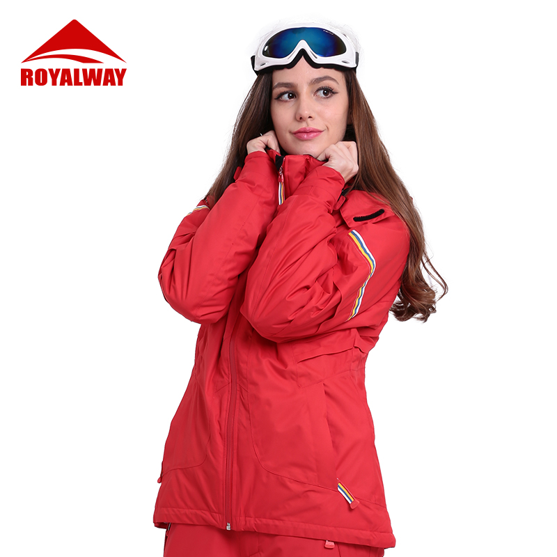 ROYALWAY Ski Suit Women Winter Warm Windproof Waterproof Outdoor Sports Snowboard Jackets Avalanche Search Rescue System