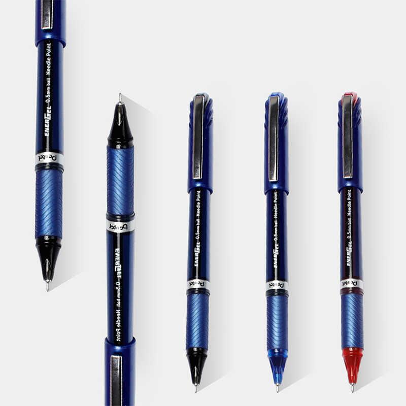 3 sztuk japonia Pentel pióro neutralne BLN25 prędkość Dry Direct Injection długopis Signature 0.5mm specjalne do badania o dużej pojemności