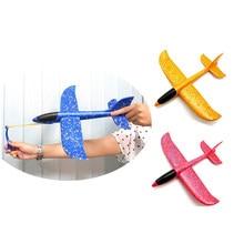 Planador epp avião de borracha para crianças, brinquedo interessante de 35cm para lançamento, ao ar livre, espuma e jogar à mão, avião de borracha jogo jogo tabuleiro