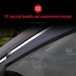 Image 2 - 4Pcs Car Window Visor Door Rain Sun Shield Side Windows Cover Trim Auto Accessories For Volkswagen Teramont