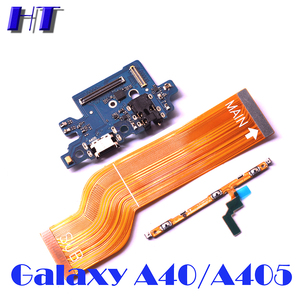 For Samsung Galaxy A40 A405F A405DS A405FN power volume side button strip mainboard LCD USB charing board microphone flex cable