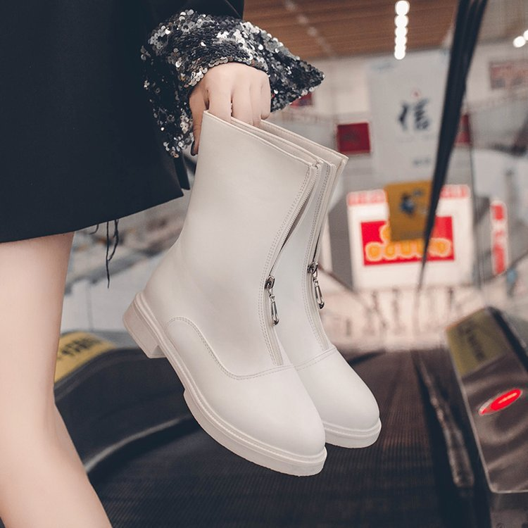 Guidi Boots Women's Autumn New Style Without Fleece Lining Front Zipper Women's Boots Summer Low Heel Online Celebrity Short Boo