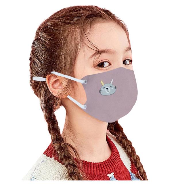 Kids Cartoon Print Adjustable Washable Safet Protect Dustproof Haze Face Mask