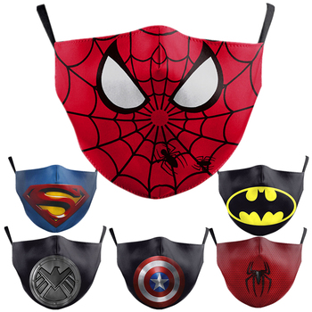 Superhero Superman Batman Captain America Child Kids Adult Face Mask Dustproof Cosplay Masks