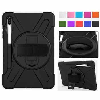 Funda de tableta para Samsung Galaxy Tab S6 10,5 2019 SM-T860 SM-T865 niños seguro a prueba de golpes resistente de silicona duro soporte de mano titular de la