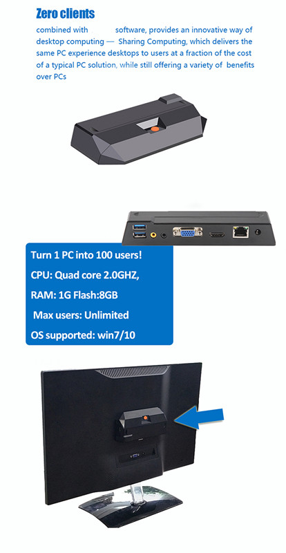 Latest Thin Client PC R0 Pc Station For Digital Signage School Office Internet Cafe Thin Client