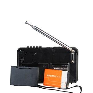Image 5 - XHDATA Radio portátil D 328 con reproductor de música, SW FM Radio AM, 12 bandas con reproductor de música DSP/MP3 y ranura para tarjeta TF, paquete con batería recargable, color negro