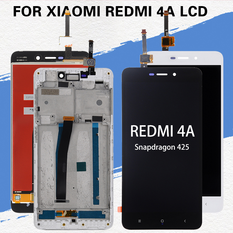 Dinamico 5.0inch 4A Display For Xiaomi Redmi 4A Lcd Touch Screen Panel Glass Digitizer Assembly With Frame With Tools