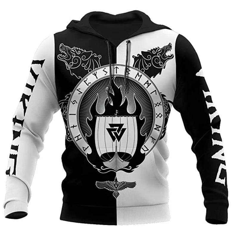 Black 3D Men's  Hoodie Men Women New Fashion Zipper Hooded Long Sleeve Pullover