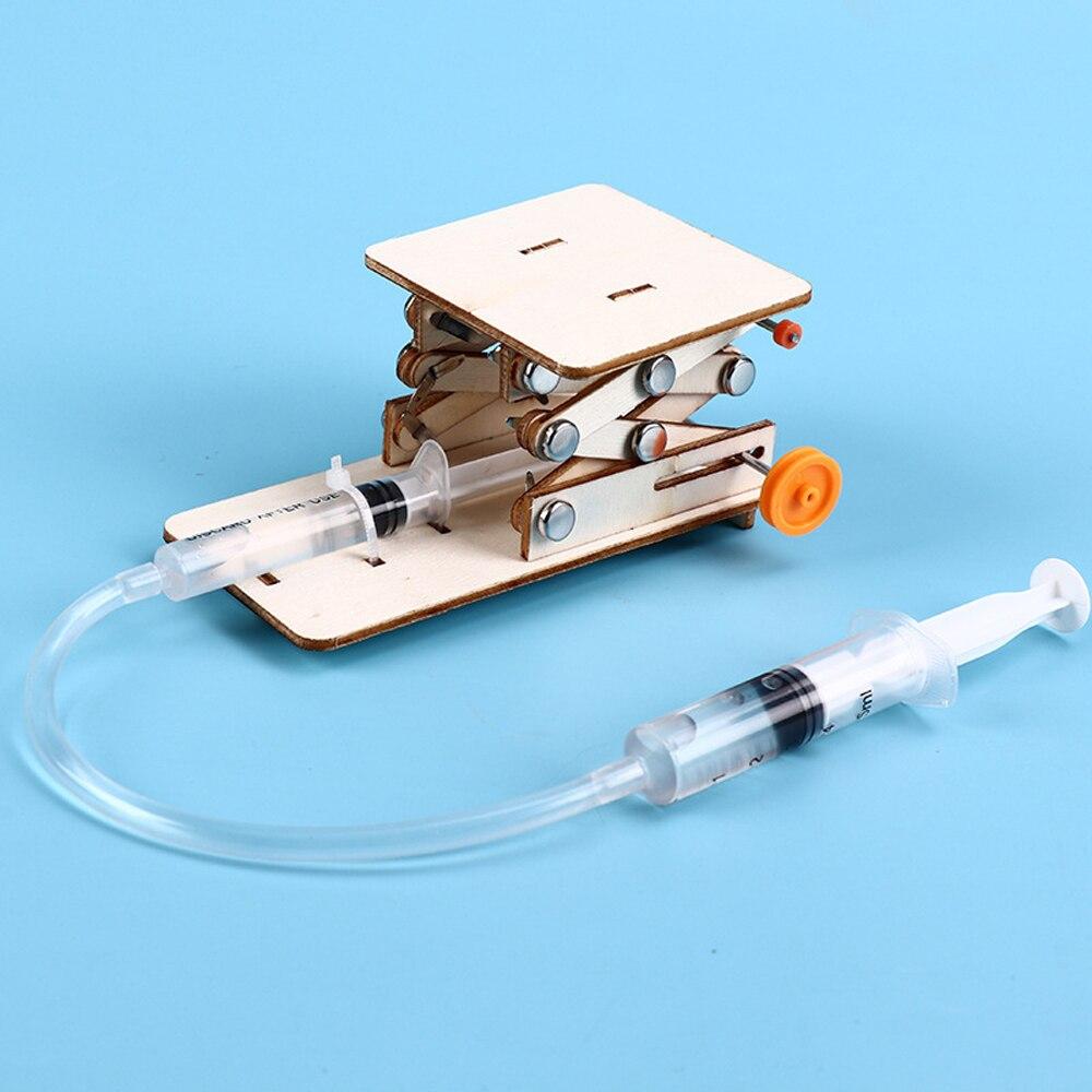 Детские научные игрушки «сделай сам», учебный набор для научных экспериментов, модель стола с гидравлическим подъемником, физика, Подростковый школьный проект с стержнями