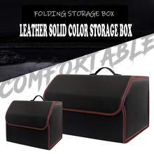 Multifunction Tidying Car Trunk pu Leather Organizer Box Storage Auto Trash ,Tool Bag Folding Cargo Storage Stowing Tidying bag hot multifunction car storage box trunk bag vehicle tool box tools organizer bag for emergency box
