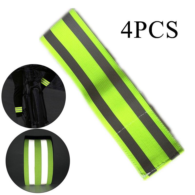 Safety Reflective Sticker Tape Arm Strap Bicycle Safety Leg Pants Strap Armband