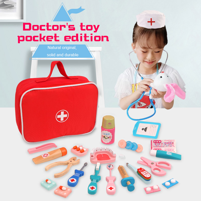 Hot DealsToy Doctor-Toy Simulation Wooden Role-Playing Children Real-Life for Hot