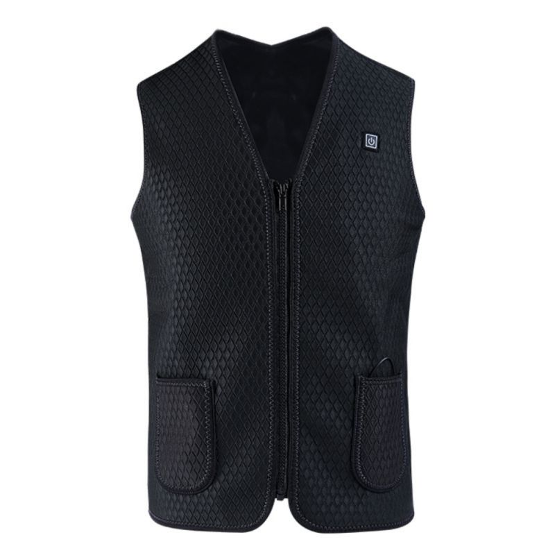Outdoor Cycling USB Heated Vest Jacket Winter Thermal Electric Sportswear For Hiking Climbinge Cottom