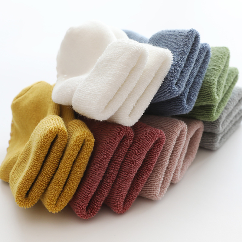 Newborn Baby Socks Anti-slip Floor Socks For Infant Girls Thick Warm Winter Knee High Rollable Tubes Toddler Baby Boys Socks