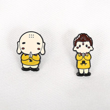 Brooch Jewelry Badge-Accessories Pins Chinese-Style Cute New Cartoon Souvenir Alloy Buddha