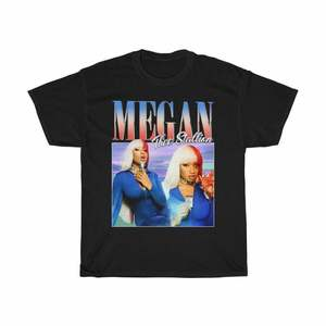 Megan Thee Stallion Rnb Hip Hop Vintage Reprint Black T Shirt Regular Size S 3Xl