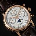 Мужские часы с хронографом, 100%, Чайка ST1908, с лунным фазным календарем, светящиеся стрелки, ВВС, пилот, мужские военные механические часы