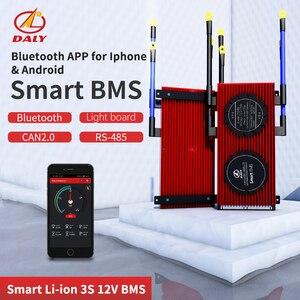 Alta corrente inteligente bms 3s 12v bluetooth + 485 ao dispositivo usb + pode + ntc + uart togther leão lifepo4 lto batteries2.3v/2.4v conn