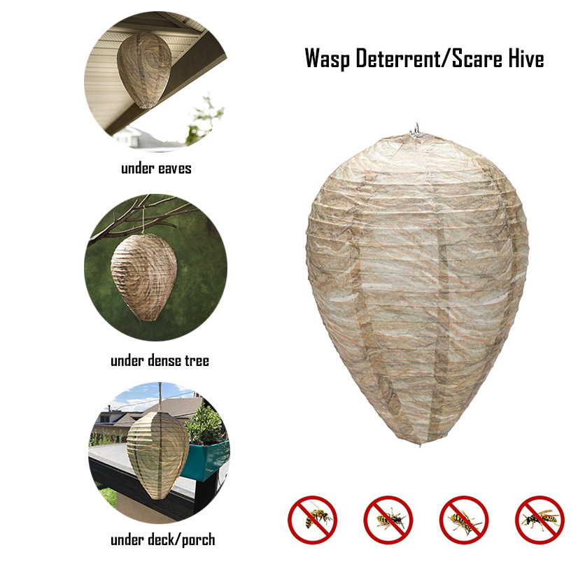 Bee-Trap Deterrent Fly-Insect Flying Wasps Hornets for D3 Nest Hanging-Wasp Simulated-Wasp
