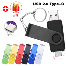 New Custom Logo OTG USB Flash Drive Type C Pen Drive 128GB 64GB 32GB 16GB 8GB 4GB USB Stick 2.0 Pendrive for Type-C Device