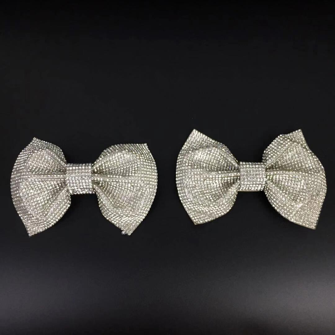 1 Pair Women Shoes Charms Accessoires Bowknot Bow Shoe Bag Hat Decoration DIY