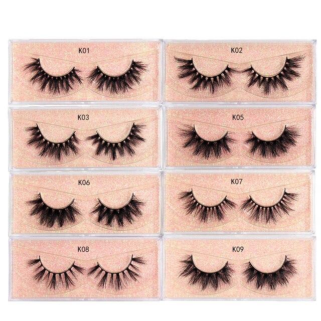 LEHUAMAO Makeup Mink Eyelashes 100% Cruelty free Handmade 3D Mink Lashes Full Strip Lashes Soft False Eyelashes Makeup Lashes 3
