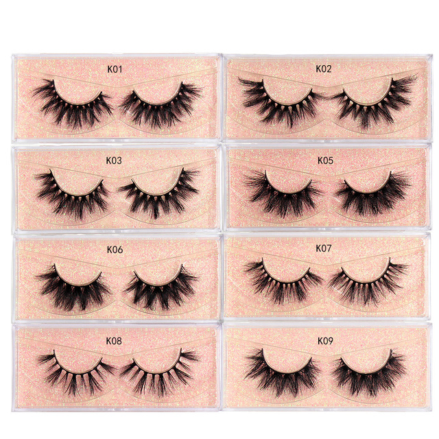 LEHUAMAO Makeup Mink Eyelashes 100% Cruelty free Handmade 3D Mink Lashes Full Strip Lashes Soft False Eyelashes Makeup Lashes 2