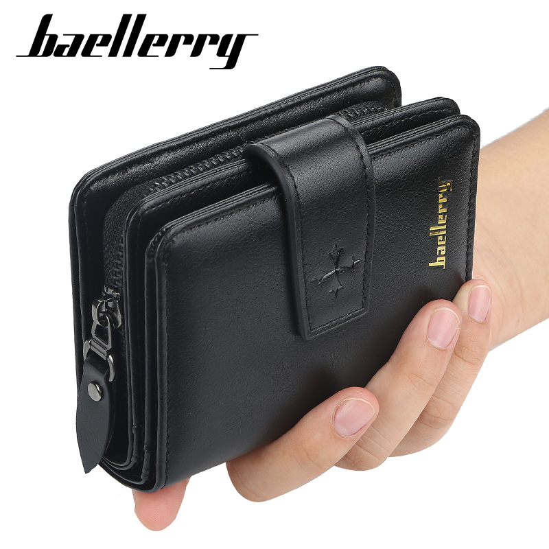 Baellerry Multifunction Wallet Men Leather Men Wallets Purse Short Male Clutch Leather Wallet Mens Money Bag Quality Guarantee